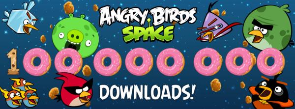 Angry Birds Space、1億ダウンロードを突破!
