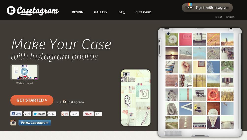 Instagramの写真でiPhoneケースが作れる「Casetagram」、iPadケースの製作も開始