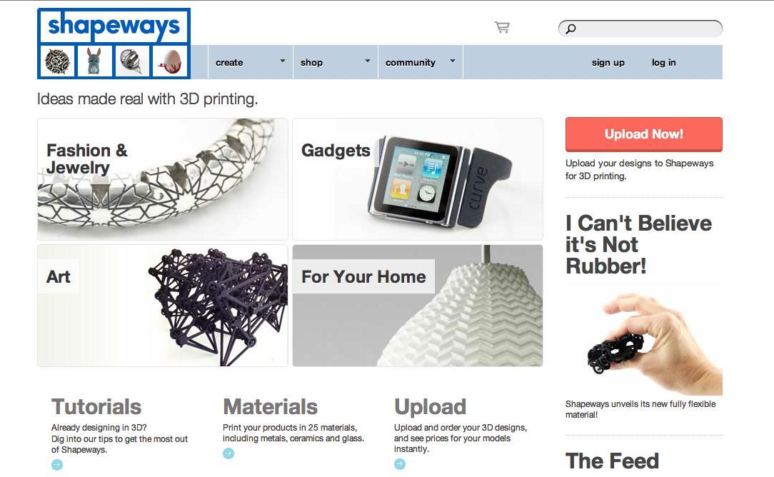 3DプリントサービスのShapeways、新たに620万ドル資金調達