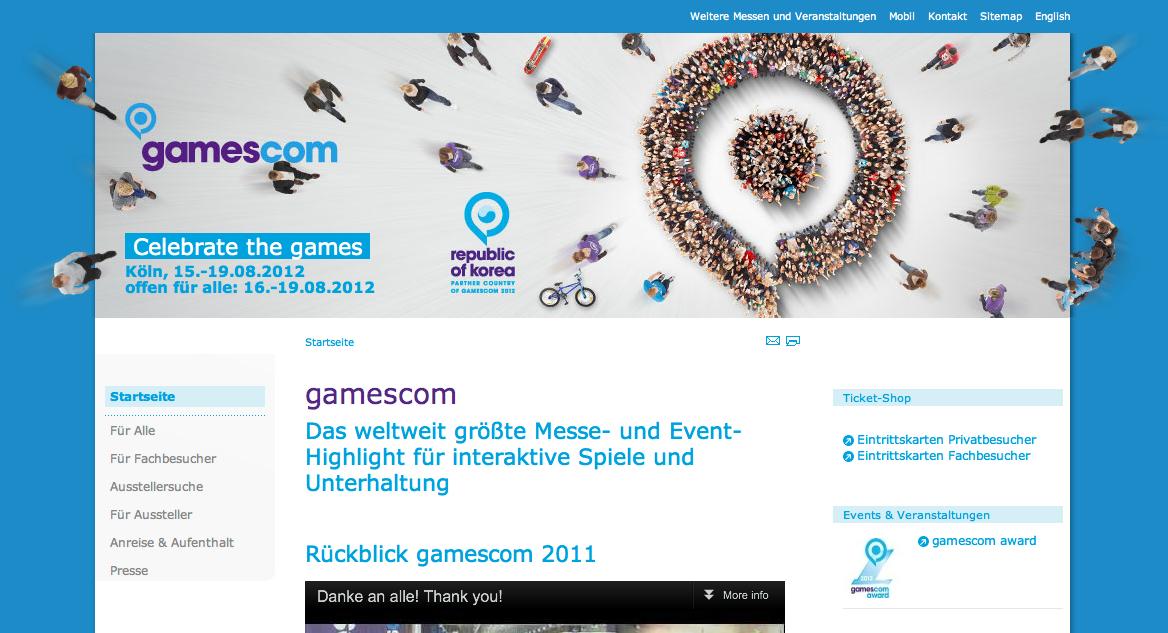 GREE、ドイツのゲームショウ「gamescom 2012」に初出展!