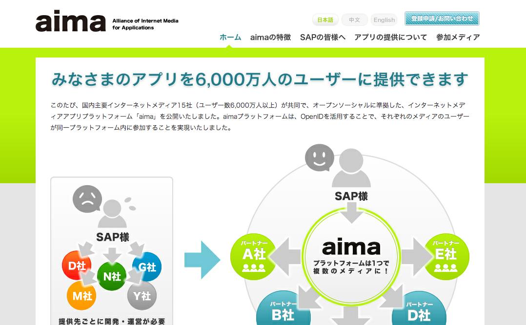 ソーシャルゲームプラットフォーム「aima」がタブレットとスマホに対応