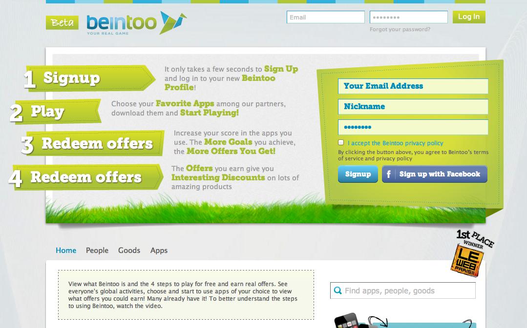 ゲーミフィケーションサービスの「Beintoo」、500万ドル資金調達