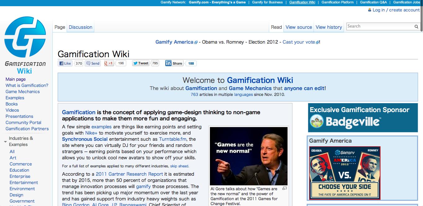 ゲーミフィケーション企業のBadgeville、Wikiコミュニティ「Gamification.org」を買収