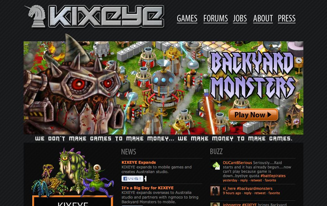 米ソーシャルゲームディベロッパーKIXEYE、ngmocoと提携しMobageにてモバイル向けソーシャルゲームを展開