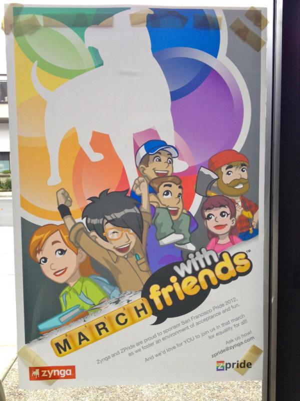 Zynga、世界最大のゲイ・パレードの一つ「サンフランシスコ・プライド・パレード」のスポンサーに
