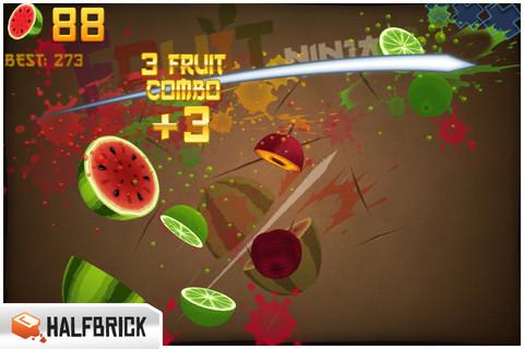スマホ向けゲームアプリ「Fruit Ninja」、3億ダウンロード突破1