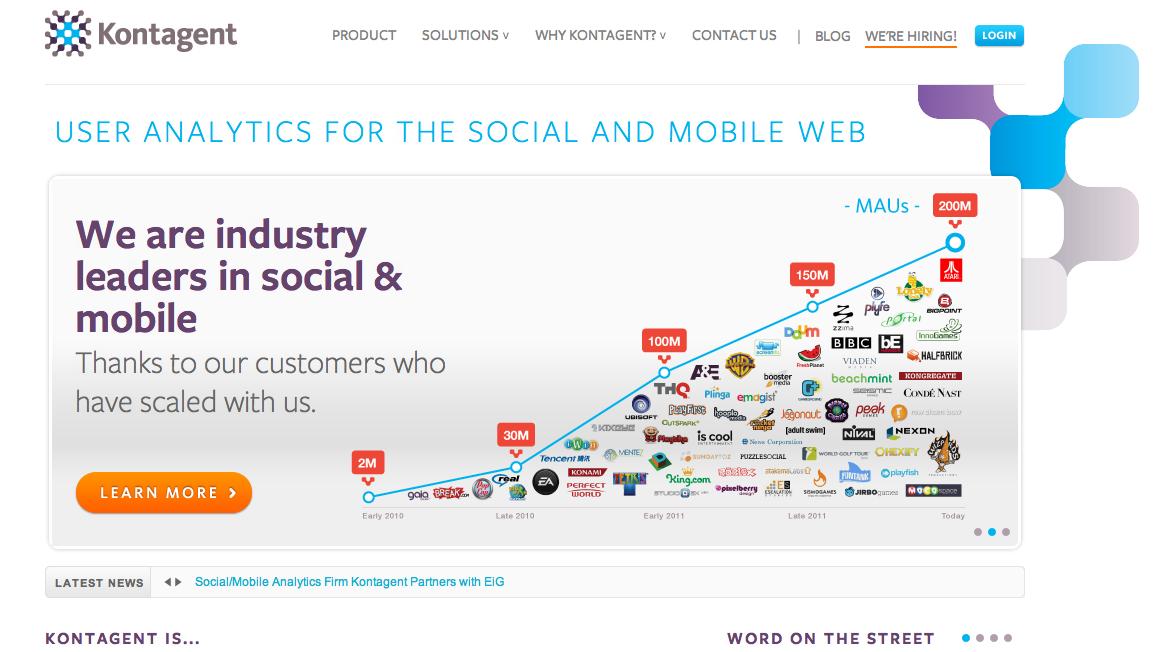 仮想通貨決済のTapjoy、ソーシャルメディア及びモバイル向けWebサイトのアクセス解析を行うKontagentと提携