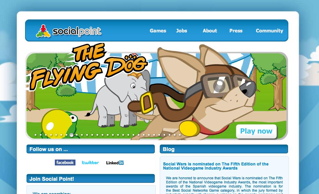 スペインのソーシャルゲームディベロッパーSocial Point、740万ドル資金調達