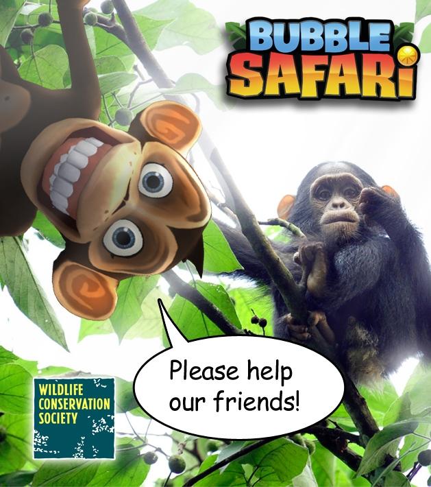 Zyngaのソーシャルゲーム「Bubble Safari」、野生生物保全協会とタイアップ
