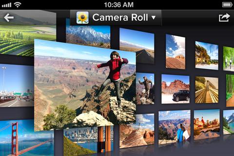 iOS端末、Facebook、Instagram etc... あちこちに散らばっている写真をまとめて3Dウォール上で管理できるアプリ「Cooliris」1