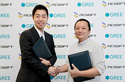 NCsoftとGREE、モバイルゲームの開発・提供において業務提携