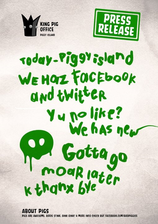 Rovio、緑ブタが主人公の「Angry Birds」スピンオフ版をリリースか?