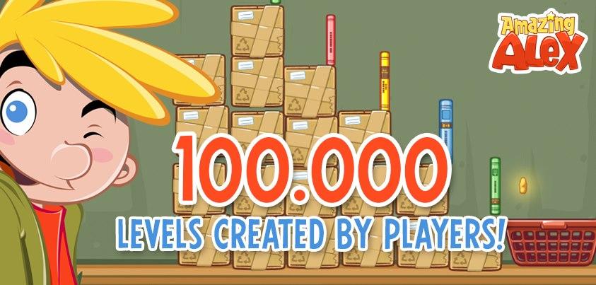 """Rovioの新作ゲーム「Amazing Alex」、ユーザーにより10万点以上の""""オリジナルレベル""""が製作される"""