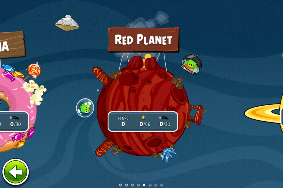 火星探査機「キュリオシティ」着陸記念! 「Angry Birds Space」に火星ステージ登場1