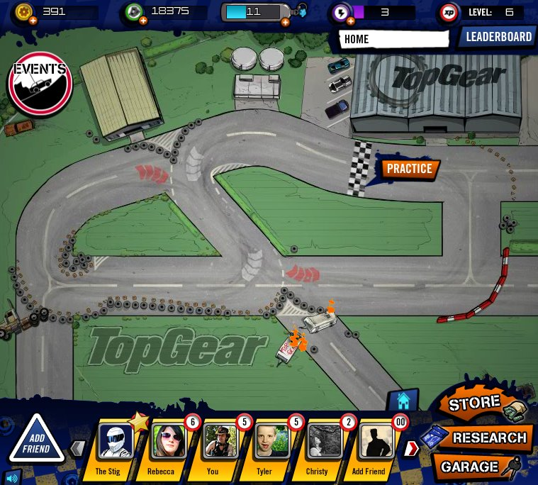 Powwwweeeerrrr!!! 6wavesとEyes Wide Games、FacebookにてBBCの車バラエティ番組「TopGear」のソーシャルゲームをリリース1