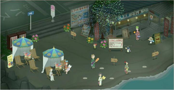 スマイルラボ、2D仮想空間「Nicotto Town」にて夏祭りイベント開催1