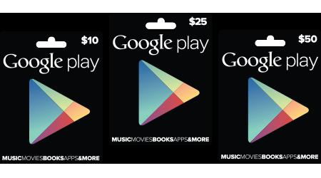 Google、Google Play専用プリペイドカードを販売