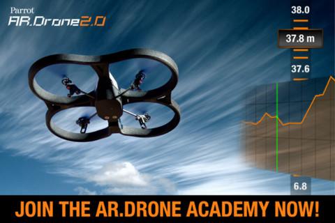 仏Parrot、ARラジコンヘリ「Parrot AR.Drone 2.0」の操縦アプリに飛行記録をクラウドで共有できる「AR.Droneアカデミー」を追加1