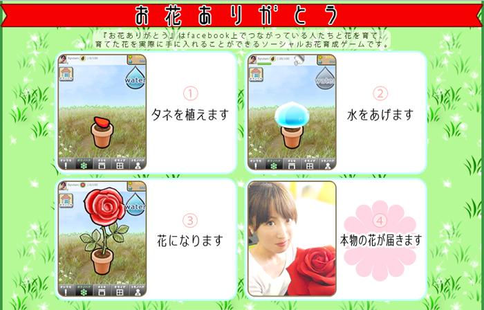 テコテックとGotham、Facebookにて実際に花が貰えるお花育成ソーシャルゲーム「お花ありがとう」の提供を開始1