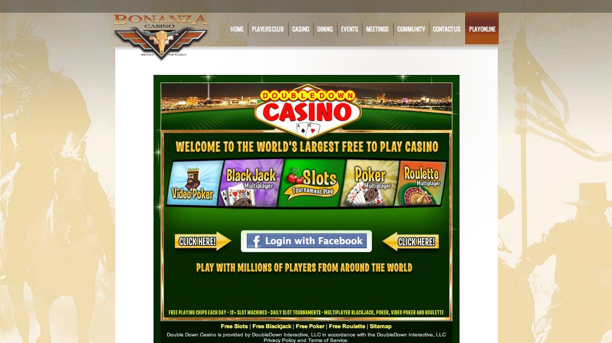 ギャンブル・ソーシャルゲーム「DoubleDown Casino」、リノのカジノ「Bonanza Casino」と業務提携