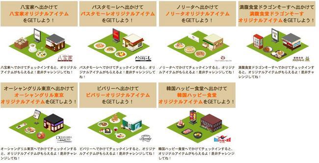 iOS向け位置ゲー「MyTown」、オーシャングリル東京など7つの飲食チェーンとタイアップ