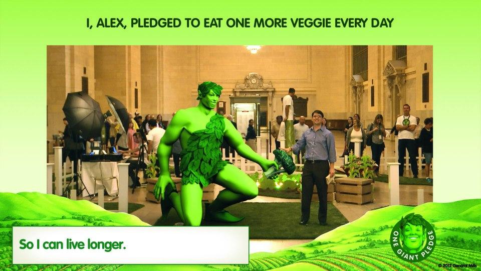 もっと野菜を食べよう!米食品会社のGeneral MillsがARを使った野菜キャンペーンを実施1