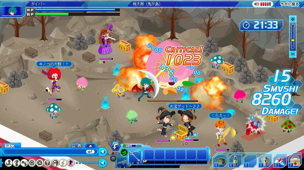 バンダイナムコゲームス、2D仮想空間「バナフェス!タウン」と連動したブラウザゲーム「激闘!スマッシュビート」のオープンβテストを開始1