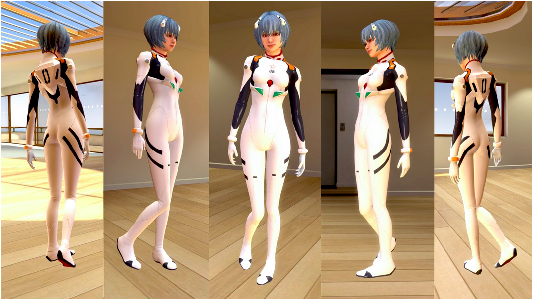 PlayStation Homeに「綾波レイ プラグスーツ なりきり衣装セット」登場!
