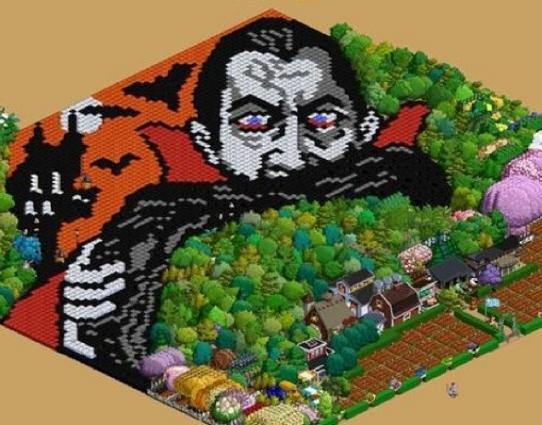 FarmVilleのもう一つの楽しみ方---畑をキャンバスにピクセルアートを描こう!1