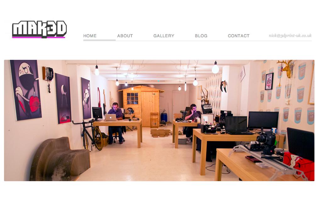 ロンドンに3Dプリンタが使えるコワーキングスペース「Mak3D」オープン!