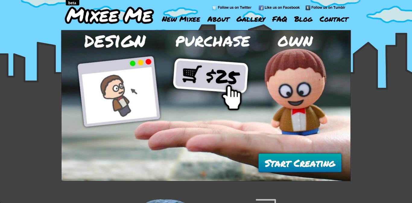 ちょっとサウスパーク風? 自分の3Dアバターから3Dプリンタでフィギュアを作ってくれるサービス「Mixee Me」登場!1