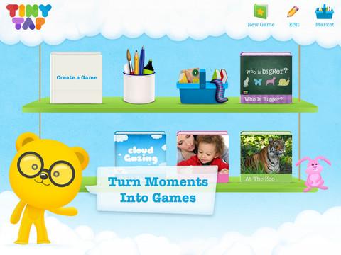 子供向けのゲーム&電子書籍製作iPadアプリ「TinyTap」、50万ドル資金調達1