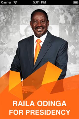 ケニアのライラ・オディンガ首相、選挙キャンペーンにスマホ向けARアプリを使用1