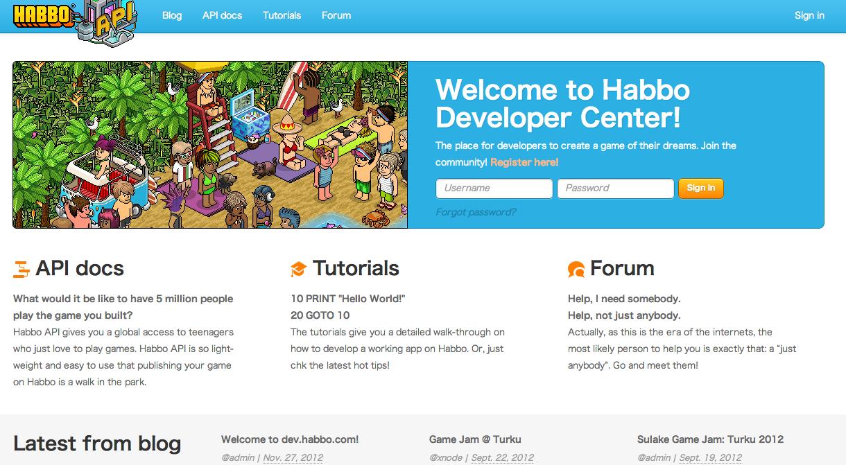 ティーンエイジャー向け仮想空間「Habbo Hotel」がプラットフォーム化へ 開発者に向けAPIを正式公開