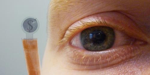 ARメガネはもう古い? ベルギーのナノエレクトロニクス研究機関がコンタクトレンズ型のディスプレイを開発