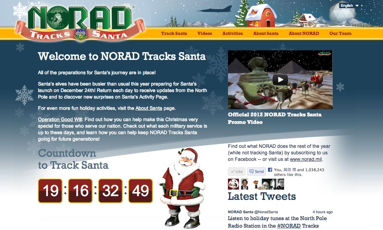 """クリスマスまであと20日!北米空軍が毎年恒例の""""サンタ追跡作戦""""を開始"""