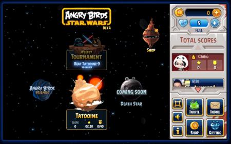 Rovio、「Angry Birds Star Wars」のFacebook版をオープン1