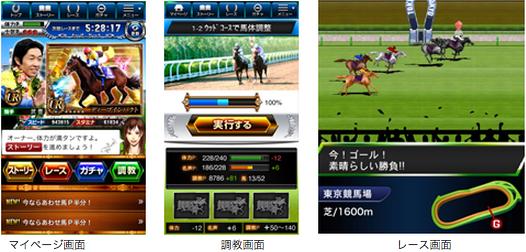 フジテレビとDeNA、Mobageにて本格派競馬ゲーム「競馬カードコレクション」を提供開始2