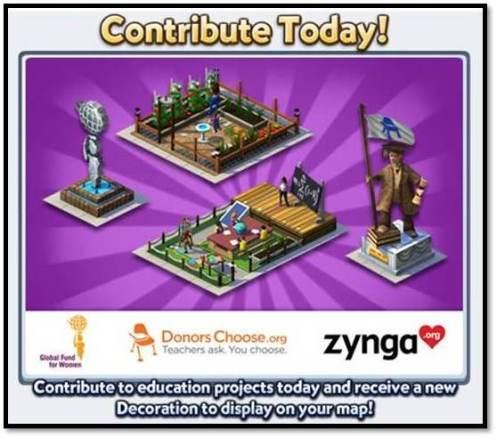 Zynga、ソーシャルゲーム「CityVille 2」にて教育設備増強のためのチャリティプログラムを開始