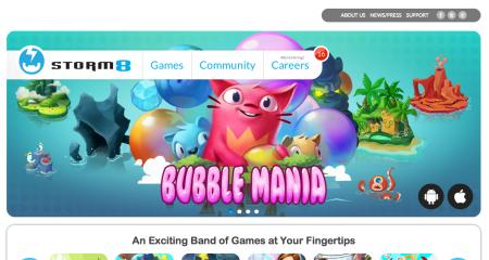 米スマホ向けソーシャルゲームディベロッパーのStorm8、全ゲームアプリの総ダウンロード数が4億件突破!