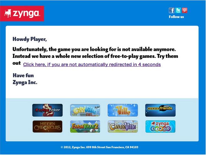 Zynga、経費削減のため今月・来月に11タイトルのサービスを終了