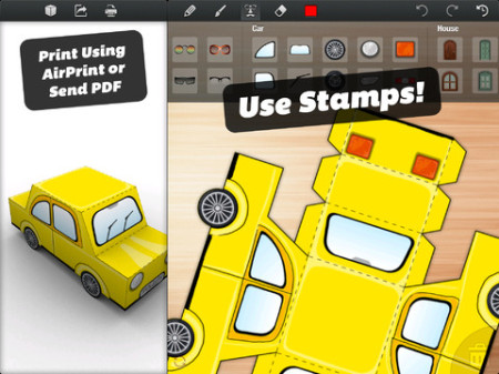 オリジナルのペーパークラフトの型紙が作れるiPadアプリ「Foldify」1