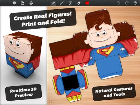 オリジナルのペーパークラフトの型紙が作れるiPadアプリ「Foldify」3