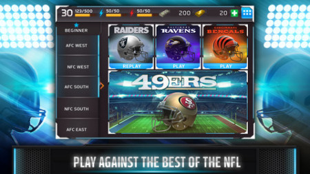 GREE International、NFL公認ソーシャルゲーム「NFL Shuffle」をリリース3