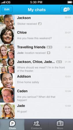 GREE、スマホ向けメッセージングアプリ「GREE messenger」をテスト中?2
