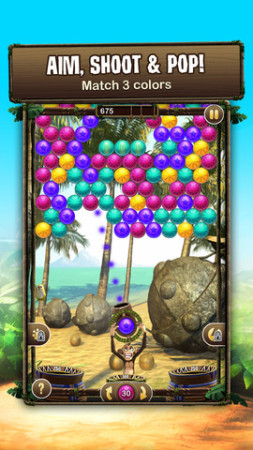 Zynga、パズルゲーム「Bubble Safari」のiOSアプリ版をリリース2