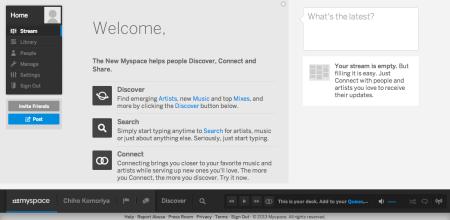 MySpace、新バージョンを公開しアカウント登録を受付中2