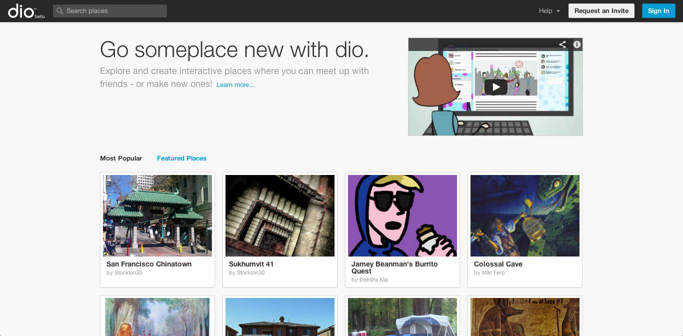 Second Life運営の米Linden Lab、様々なデータを投稿・共有できるSNS「dio」をリリース