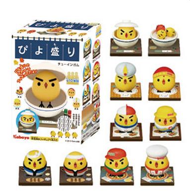 スマホ向けパズルゲーム「ぴよ盛り」、フィギュア付き玩具菓子とキャラクターソックスを発売決定!1