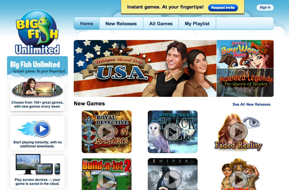 Big Fish Games、クラウド型ゲームストリーミングサービス「Big Fish Unlimited」にて近日中にWindows 8向けサービスを開始